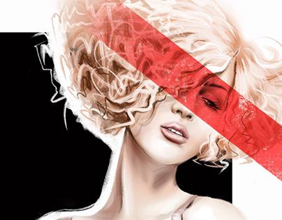 Black. White. Red