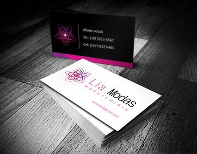 Cartão de visitas - Lia Modas