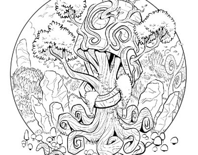 Fresco: Coloring Page
