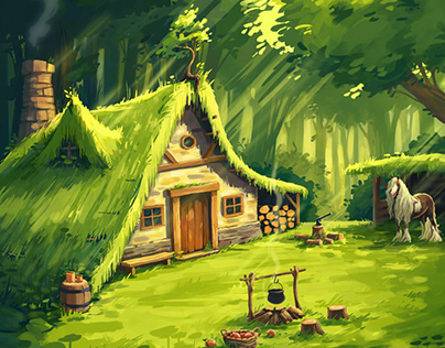 Cozy place in the woods