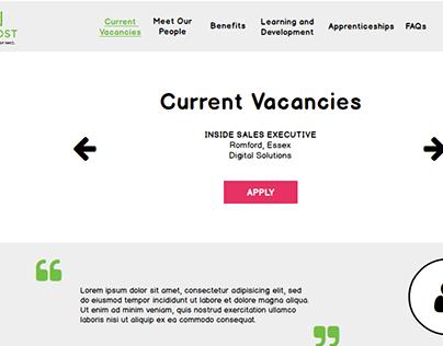 Recruitment Site Wireframe