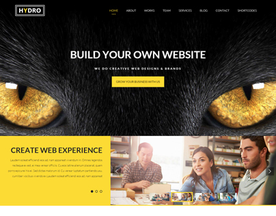 HYDRO - Multipurpose one page HTML5 Template