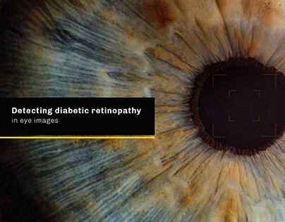 Detecting diabetic retinopathy in eye images