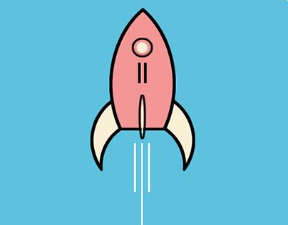 Simple Rocket Icon