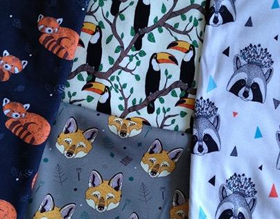 Patterns for kids fabrics (Caramelie Shop)