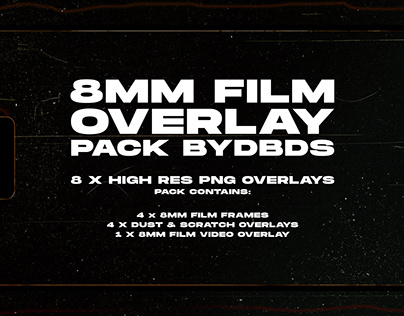 8mm Film Overlay Pack — byDBDS®