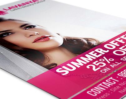Beauty Parlour Flyer Design