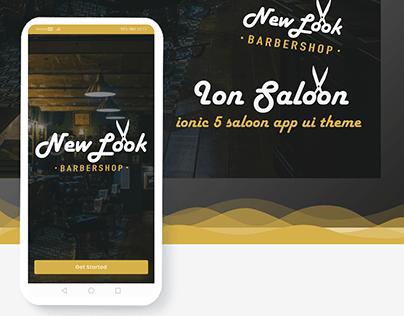 Ion Saloon- ionic 5 barbershop app ui theme