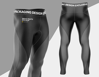 4 Men's Pants PSD Mockup