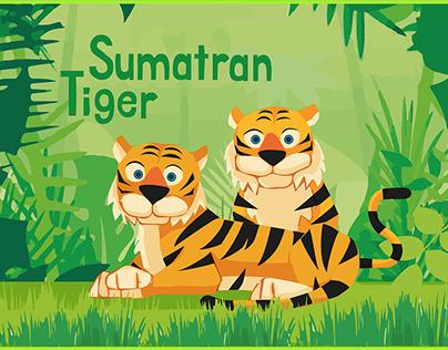 Sumatran Tiger Graphic Art