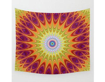 Mandala Sun Wall Tapestry