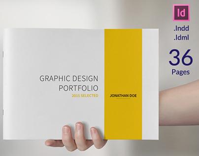 a5 graphic design portfolio template on behance