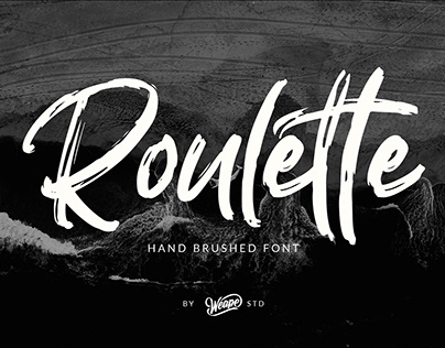 Roulette – Hand Brushed Font