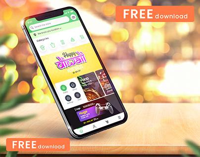 (FREE) Diwali iPhone 11 Mockup