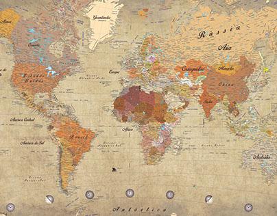 Mapa Mundi Pantone