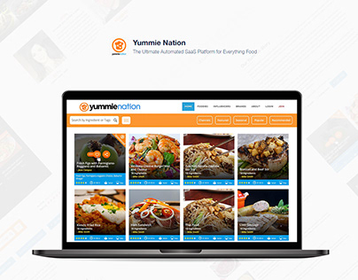 Food blogger Website UI & Frontend dev - YummieNation