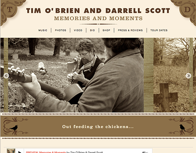 Tim O'Brien and Darrell Scott website build