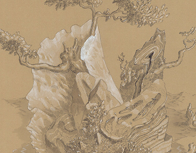 """Drawing for """"View into the Fertile Country"""" Exhibition"""