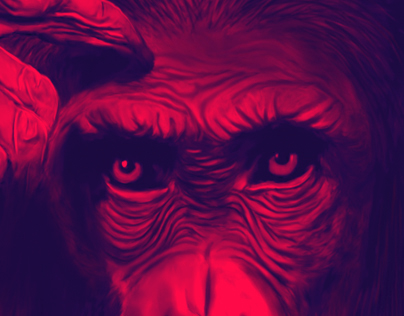 Planet of the apes - illustration