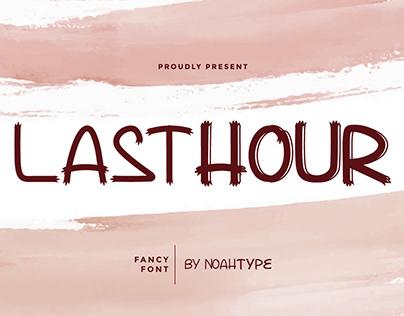 Lasthour Font