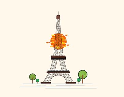 Eiffel Tower - Illustration