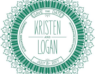 kris & logan save the date