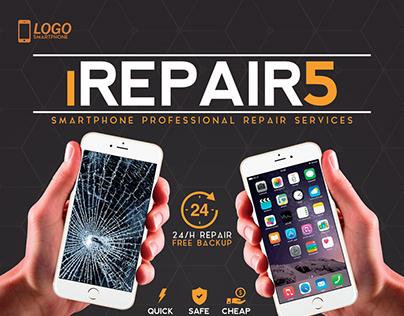 Smartphone Repair 5 Flyer/Poster