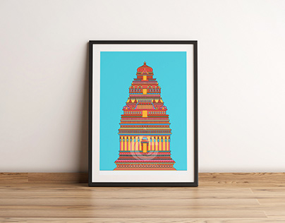 DIGITAL ILLUSTRATION OF INDIAN MONUMENTS