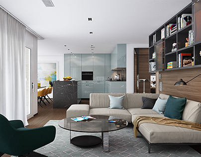 Private apartment interior in Zurich, Switzerland
