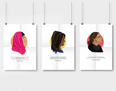 Feminist Superhero Poster Series