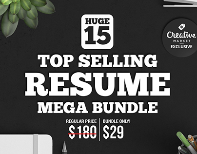 15 Top Selling Resume Mega Bundle