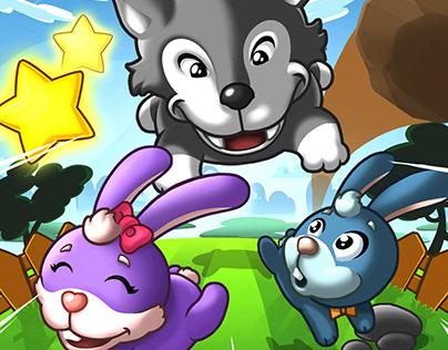 Bunny Blocker Game App Design for Lit AF