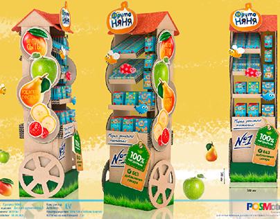 Display For Frutonyanya Snacks for kids
