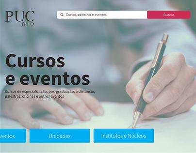 Novo site CCE PUC-Rio UX e UI Design