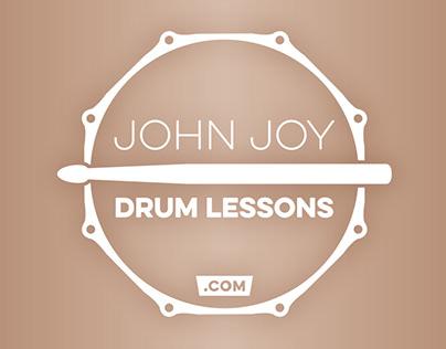 John Joy Drum Lessons: branding