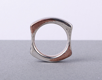 una pieza. Traditional Japanese Mokume gané ring