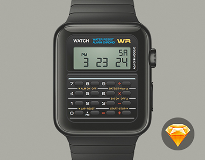 Casio Apple Watch - Free Sketch