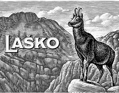 Lasko Brewery Label Illustration by Steven Noble