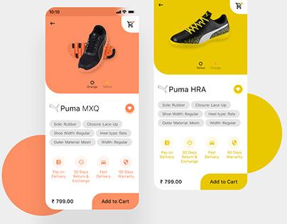 Shoes Shopping App UI