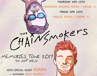 Band Tour Poster: The Chainsmokers