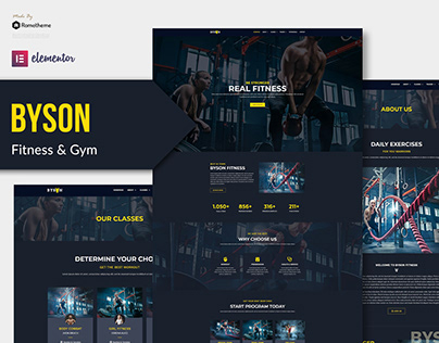 Byson - Fitness Elementor Template Kit
