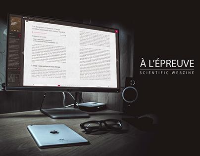 À L'Épreuve - Scientific Webzine