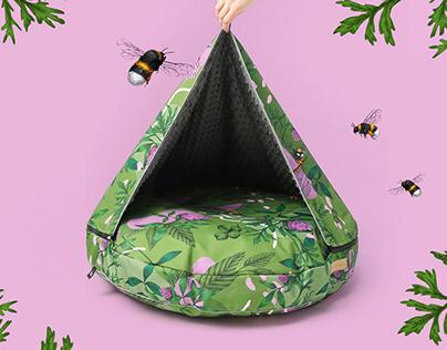 Bug off! Pattern Design & Botanical Illustrations