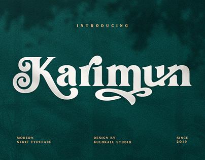 Karimun - Modern Serif Font