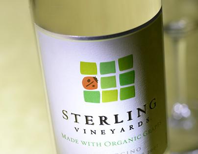 Sterling Vineyards Organic Wine Package Design