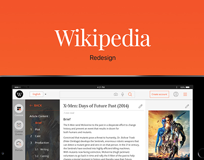 Wikipedia : Redesigning using design research