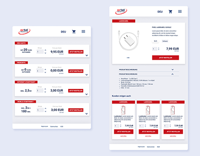 Ortel Mobile - Responsive eShop Design