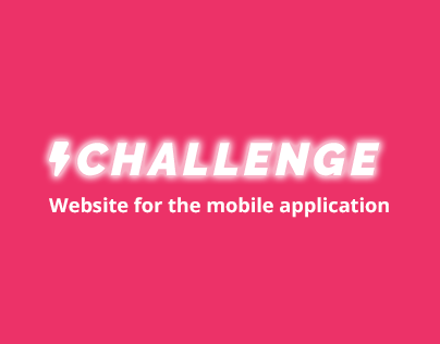 Website for CHALLENGE - a mobile app