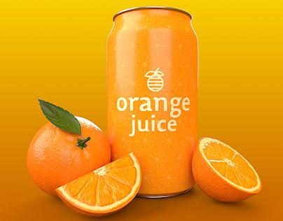 Orange Juice 3D Render