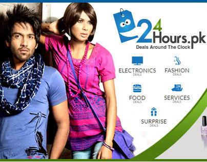 Facebook cover Design for 24HOURS.PK